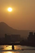 宍道湖からの朝日