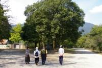 上田城址公園にて