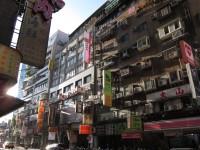 台北の街並み。古さと新しさが同居する街。