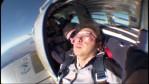 飛行機から出る瞬間